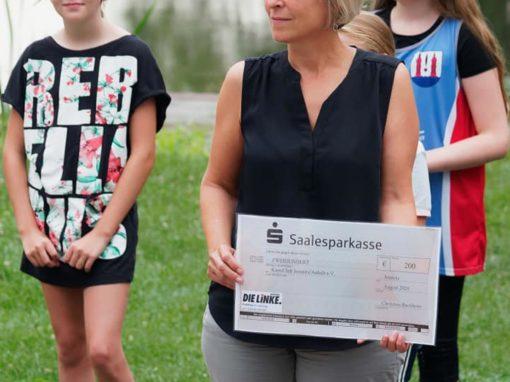 Besuch beim Kanuclub Jeßnitz  mit Spende