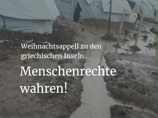 Für die humanitäre Aufnahme Geflüchteter: ein Weihnachtsappell