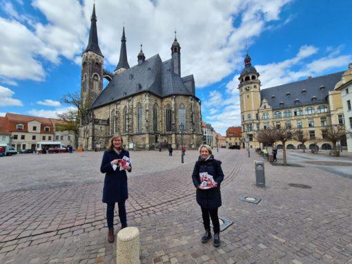 Landtour am 26.04.2021 mit unserer Spitzenkandidatin Eva von Angern und dem Landratskandidaten Swen Knöchel